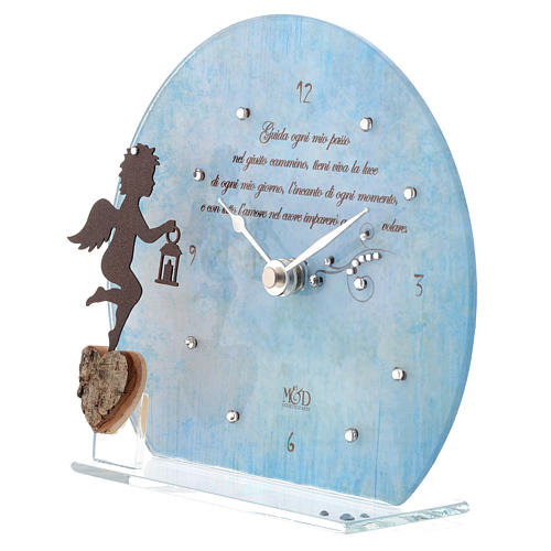 Orologio Angelo con poesia Blu 2