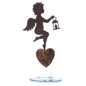 Souvenirs y Recuerdos Sacros: Ángel con lámpara  20 cm con frase