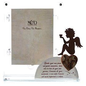 Portafoto Angelo e frase Bianco 14,5x15 cm s1
