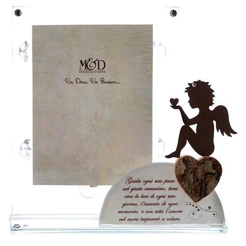 Portafoto Angelo e frase Bianco 14,5x15 cm 1