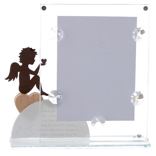 Portafoto Angelo e frase Bianco 14,5x15 cm 3