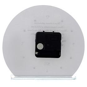 Orologio in vetro con Angelo e frase fondo bianco s3