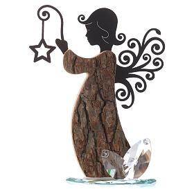 Souvenirs y Recuerdos Sacros: Ángel en Madera y  Metal con base en Cristal h.26 cm