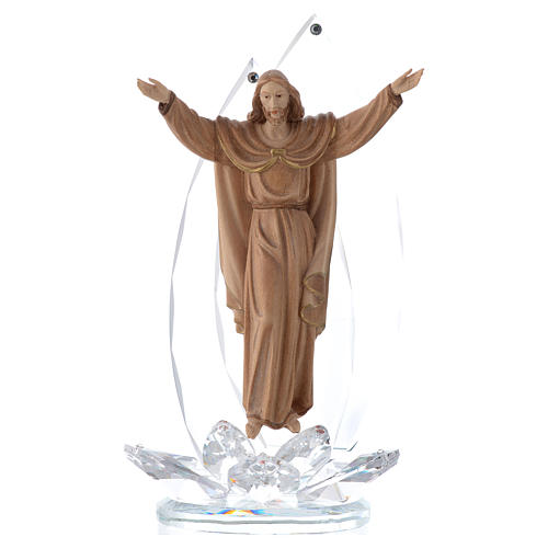 Imagen Madera cristal Cristo Resucitado h cm 21 1