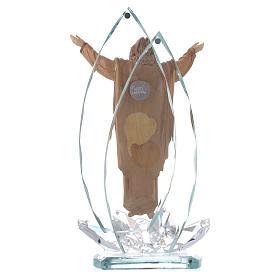 Scultura legno e cristallo Cristo Risorto h cm 21 s3