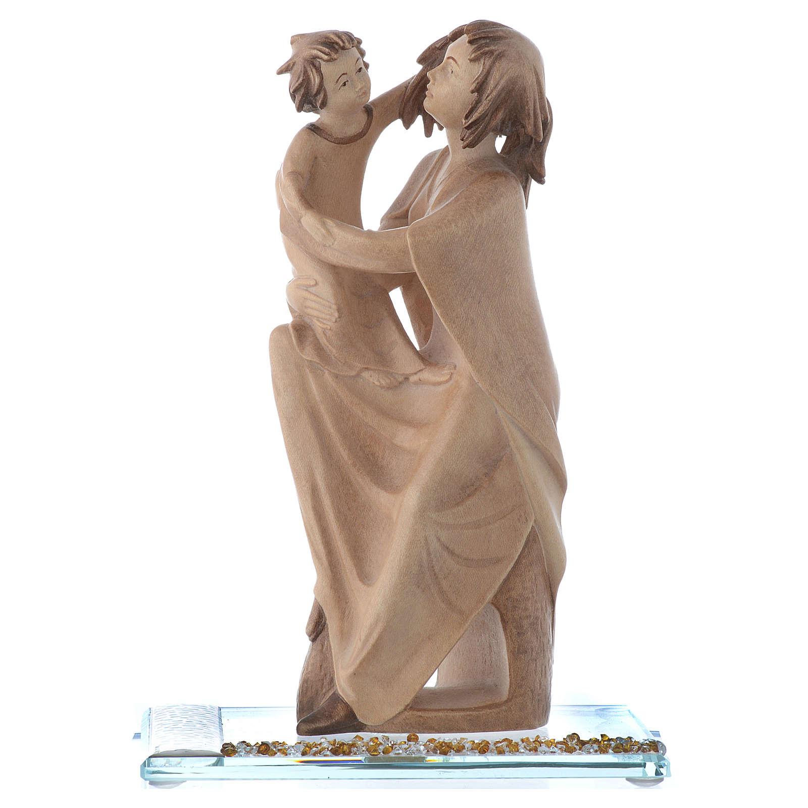 Statue Mère protectrice bois et strass h 20 cm 3