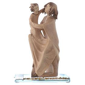 Statue Mère protectrice bois et strass h 20 cm s1
