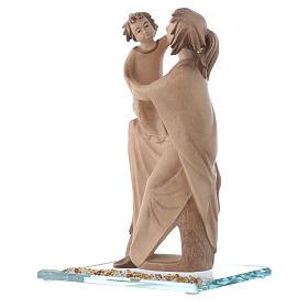 Statue Mère protectrice bois et strass h 20 cm s2