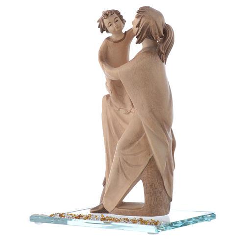 Statue Mère protectrice bois et strass h 20 cm 2