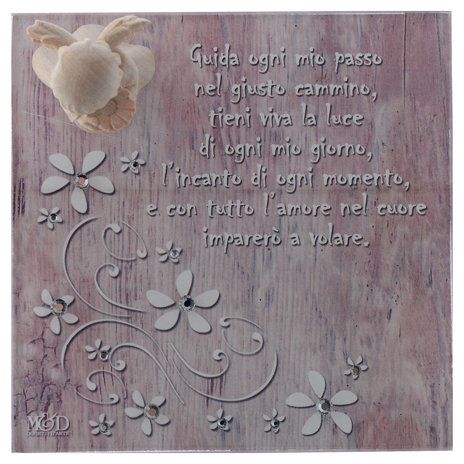 Bomboniera scatola 14x14 angelo legno rosa 3