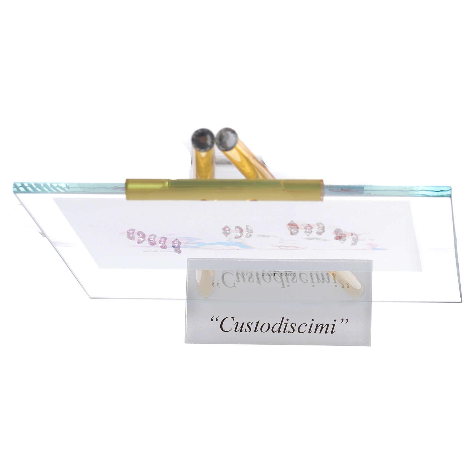 Quadro da appoggio in vetro Custodiscimi 14x19 cm Topazio 3