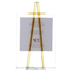 Quadro da appoggio in vetro Custodiscimi 14x19 cm Topazio s3