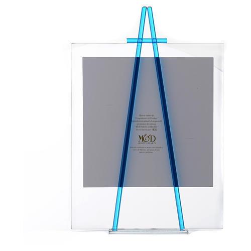 Quadro vetro da appoggio Custodiscimi 27x32 cm Acquamarina 3