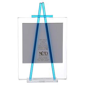 Quadretto acquerello Luce da appoggio 11x14 acquamarina s3
