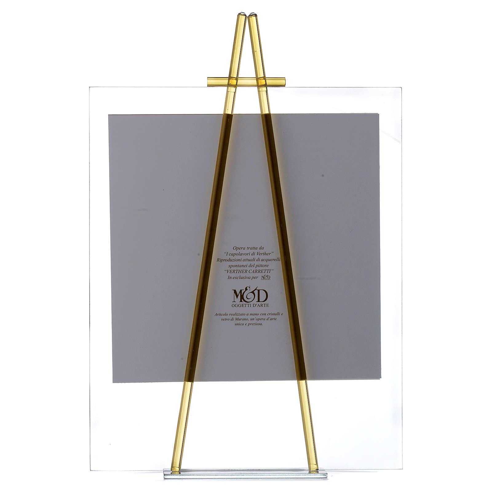 Quadro acquerello Eccomi da appoggio 27x32 cm topazio 3