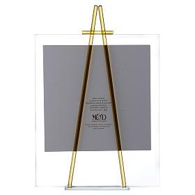 Quadro acquerello Eccomi da appoggio 27x32 cm topazio s3