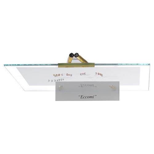 Quadro acquerello Eccomi da appoggio 27x32 cm topazio 4