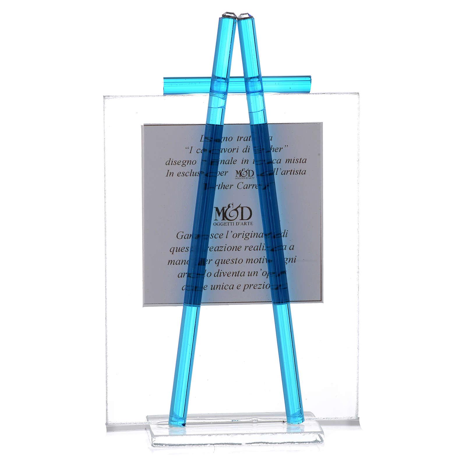 Bomboniera acquerello Luce 10x7,5 Acquamarina 3
