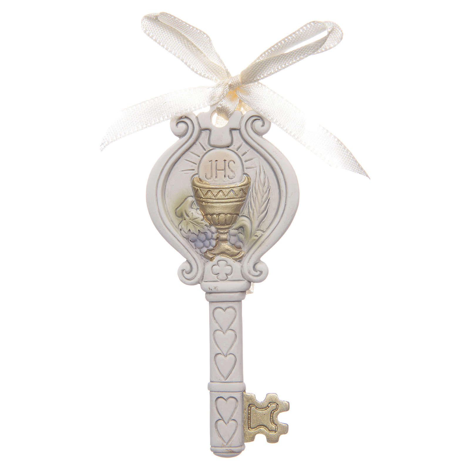 First communion memory key with chalice 4x9 cm 3