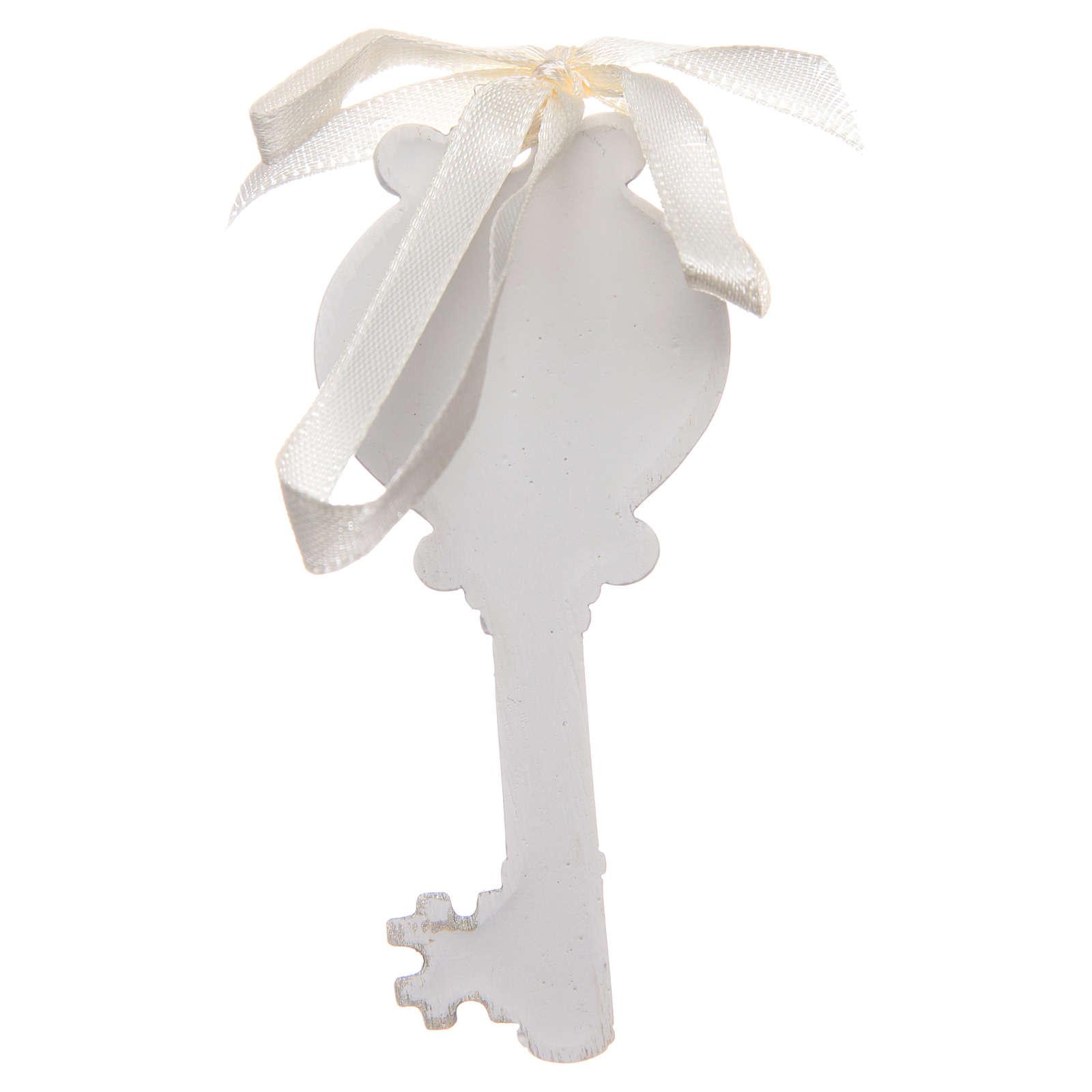Wedding bombonniere Holy Family key 4x9 cm 3