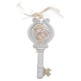 Wedding bombonniere Holy Family key 4x9 cm s1