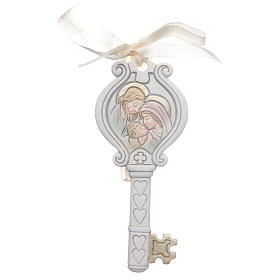 Bonbonnière Mariage clé Sainte Famille 4x9 cm s1