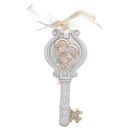 Bonbonnière Mariage clé Sainte Famille 4x9 cm 1