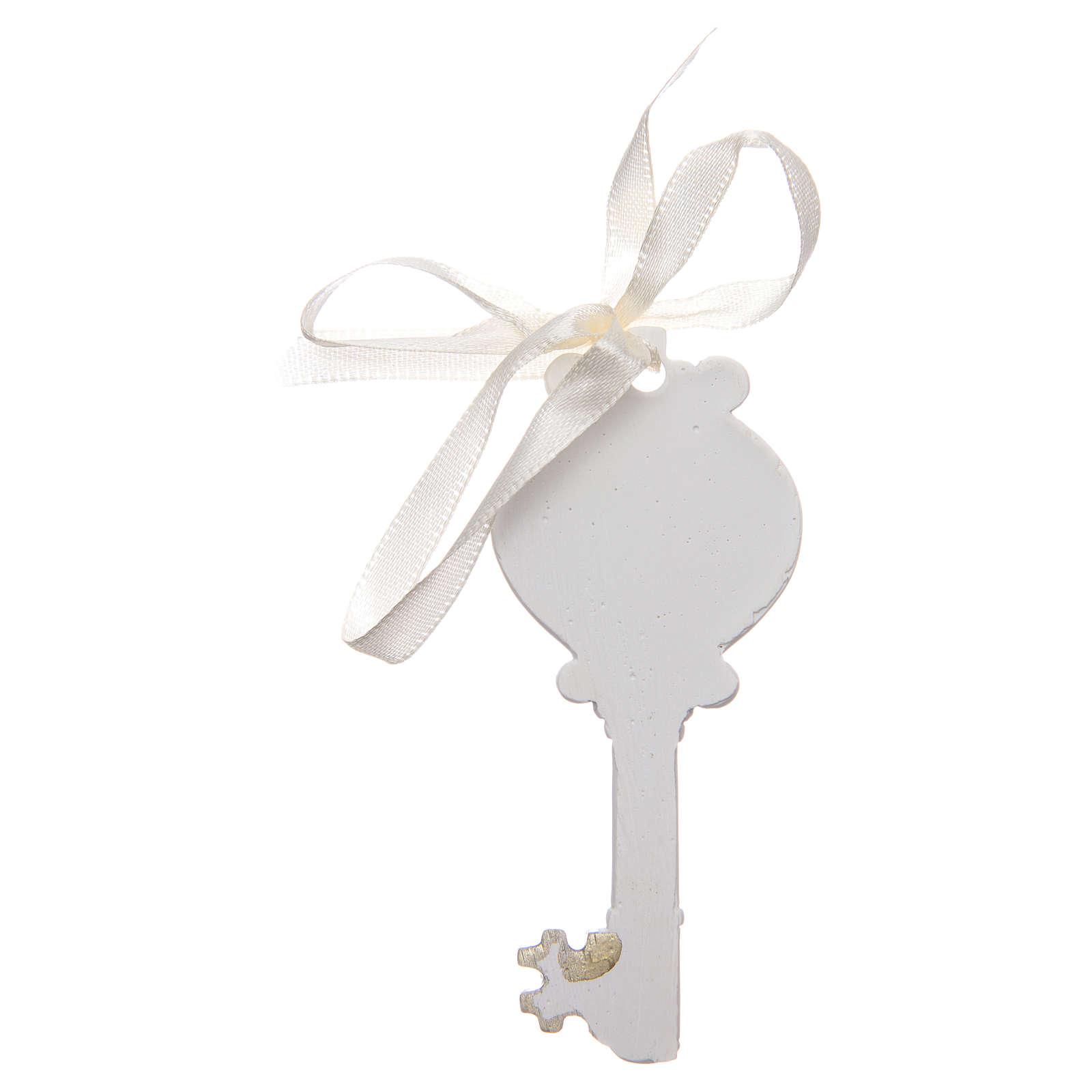 Ricordino chiave Cresima  4x9 cm 3