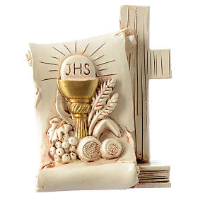 Souvenir Communion parchemin calice 6x8 cm s1