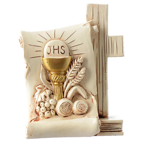 Souvenir Communion parchemin calice 6x8 cm 1