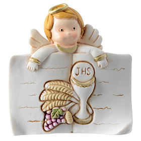 Memory of the First Communion: bombonniere with open book and chalice 7x7 cm s1
