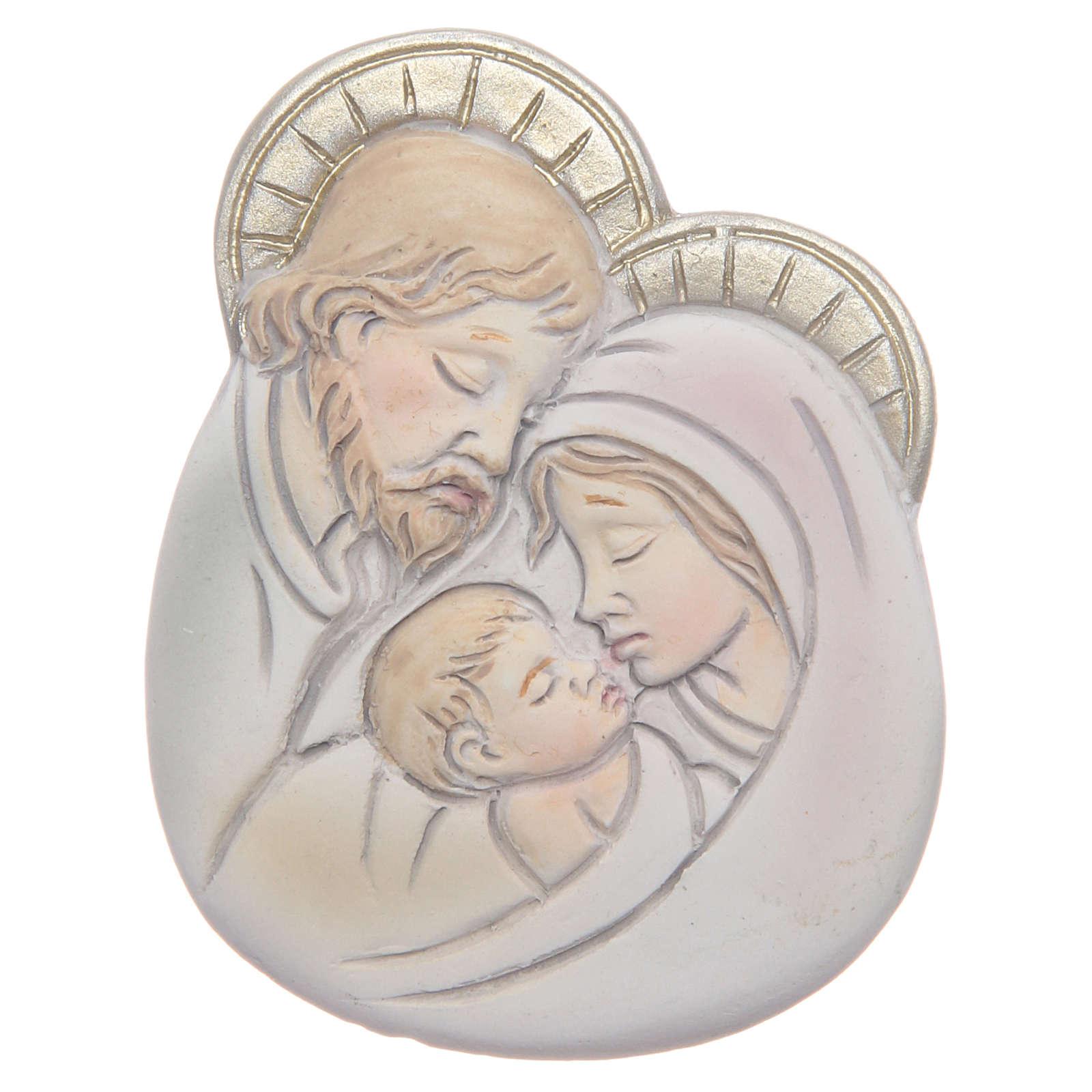 Ricordino Applicazione Sacra Famiglia 3x4 cm 3