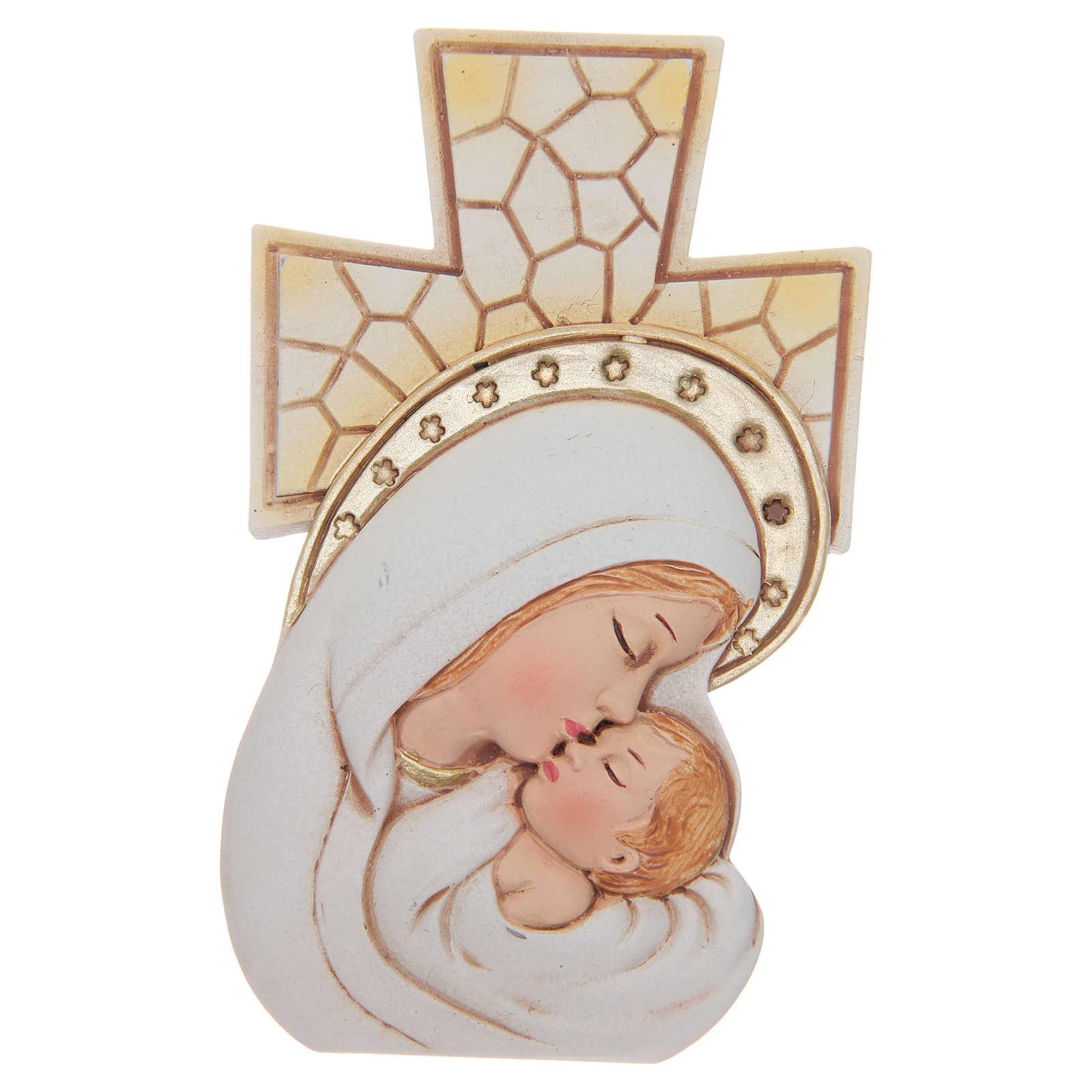 Bomboniera Battesimo e Nascita Croce Maternità 12x7 cm 3