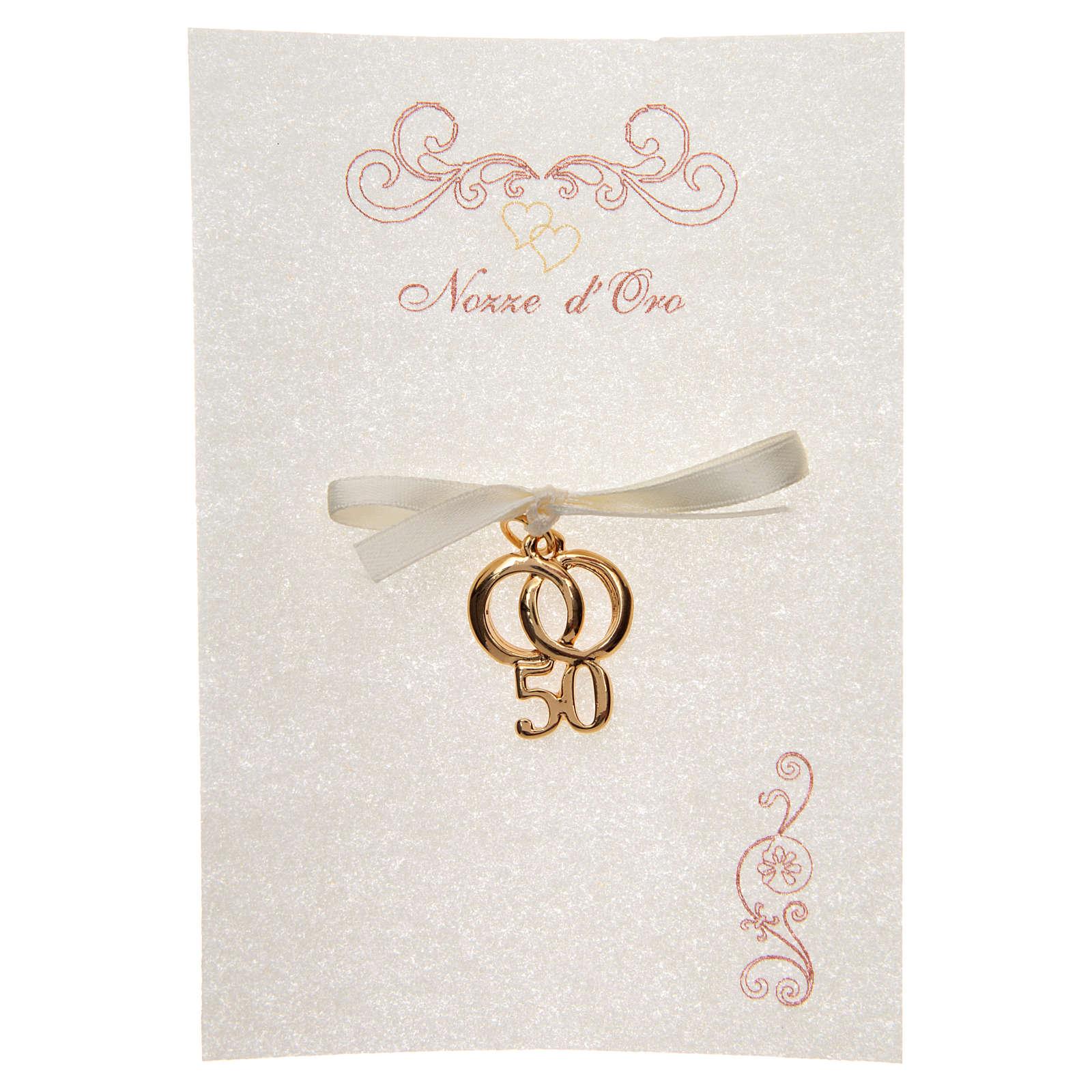 Ricordino Anniversario Matrimonio 50 con pergamena 3