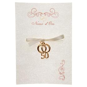Ricordino Anniversario Matrimonio 50 con pergamena s1