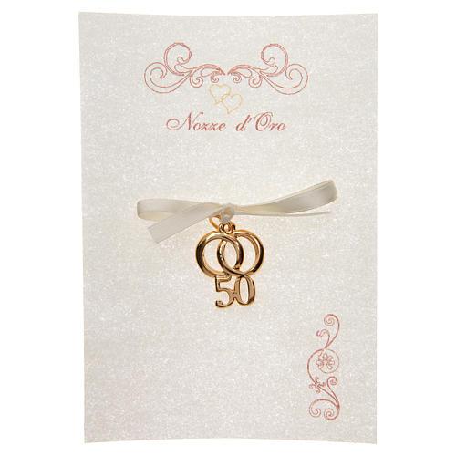 Ricordino Anniversario Matrimonio 50 con pergamena 1