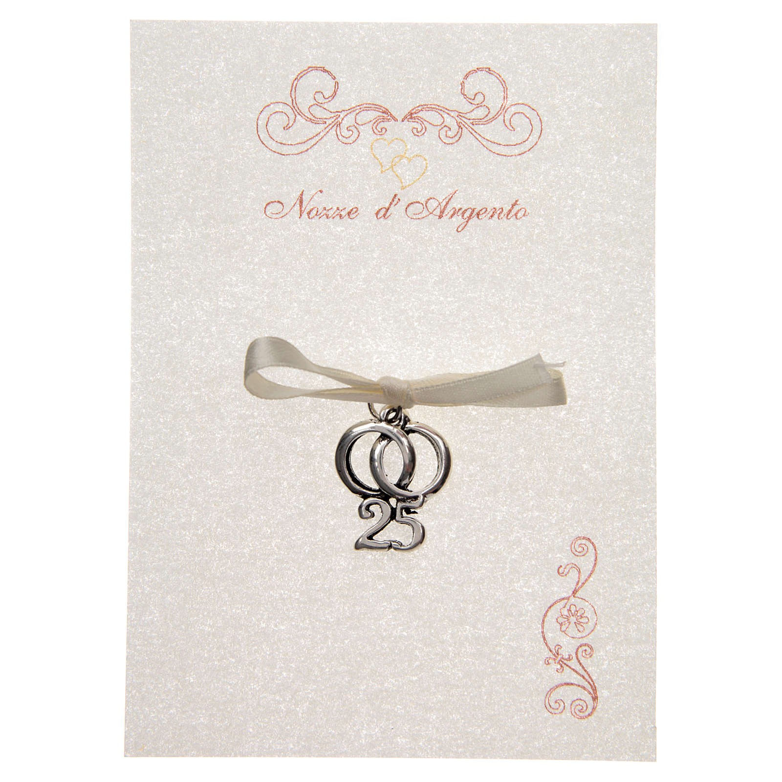 Wedding anniversary memory 25 with wedding rings and parchment 3