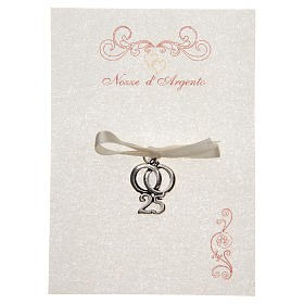 Wedding anniversary memory 25 with wedding rings and parchment s1