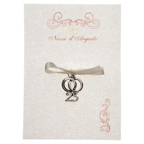 Anniversario Di Matrimonio Biglietti Da Stampare.Wedding Anniversary Memory 25 With Wedding Rings And Online
