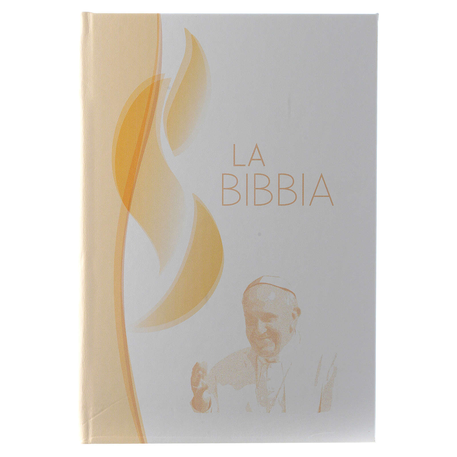 Biblia en ITLAIANO de simil cuero imagen Jesús de bilaminado plata 3
