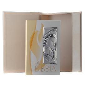 Bibbia in similpelle con astuccio e Madonna con Bambino in bilaminato argento s1