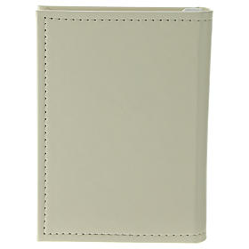 Confirmation gospel in leather imitation with pouch and double laminated silver application s3