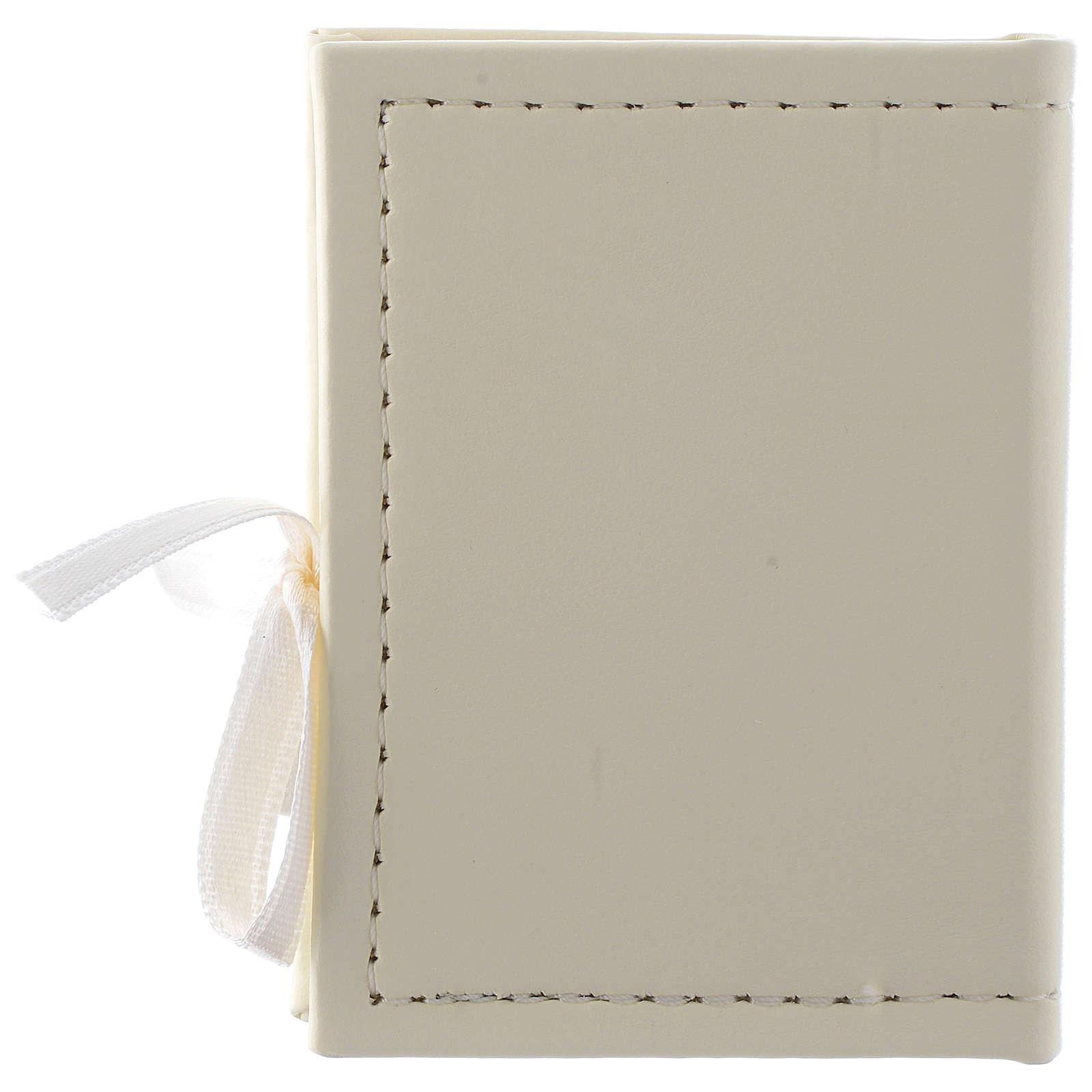 Caja para rosario Confirmación de simil cuero e imagen bilaminado plata 3