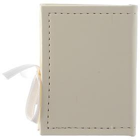 Caja para rosario Confirmación de simil cuero e imagen bilaminado plata s3