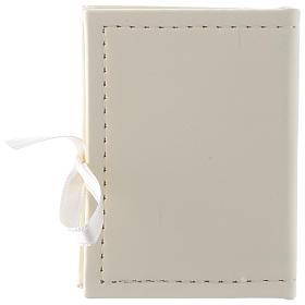 Caja para rosario Bautismo simil cuero e imagen bilaminado plata s3