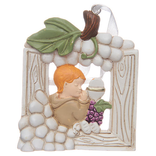 First communion bombonniere painting for boy in resin 1
