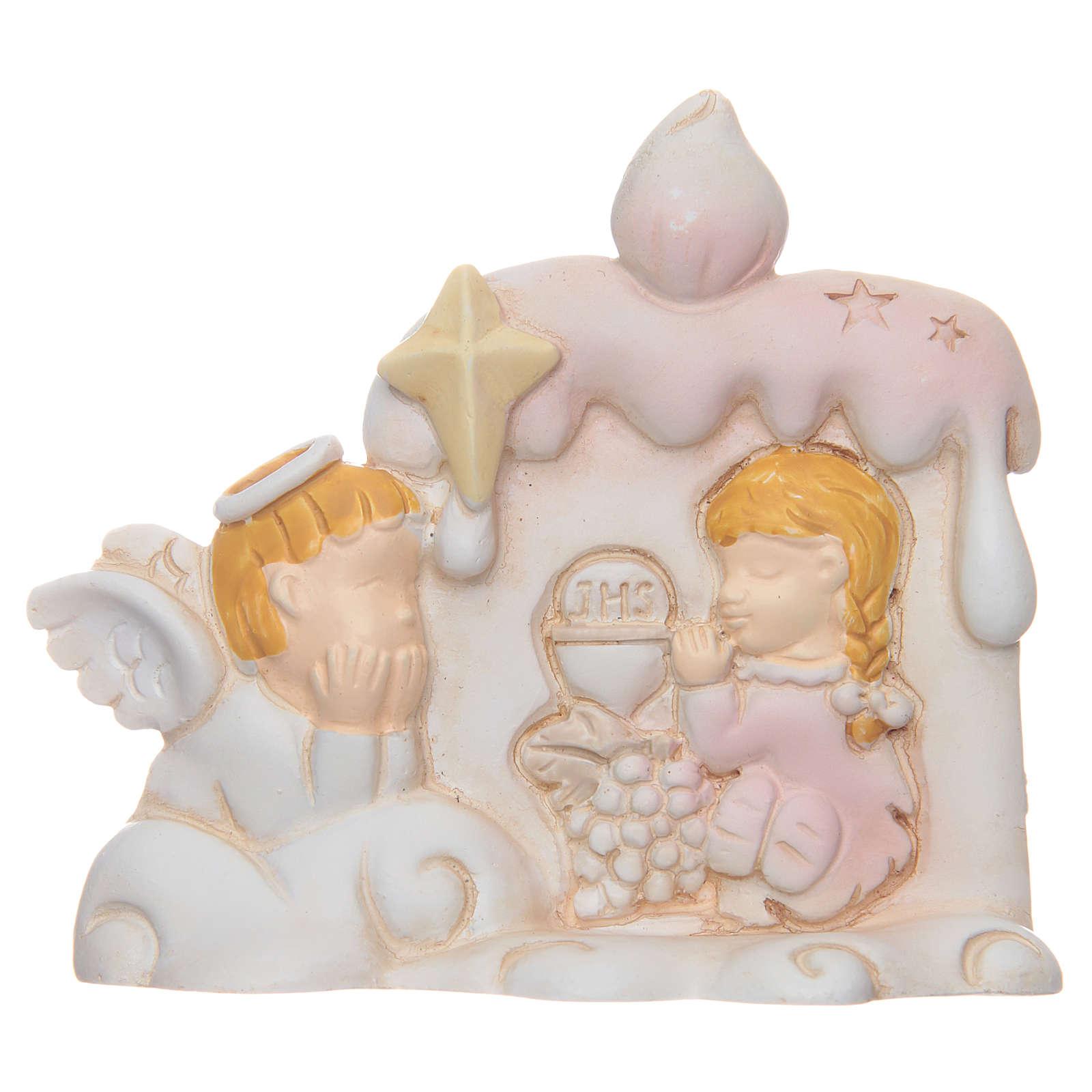 Bomboniera Prima Comunione candela angelo bambina 3