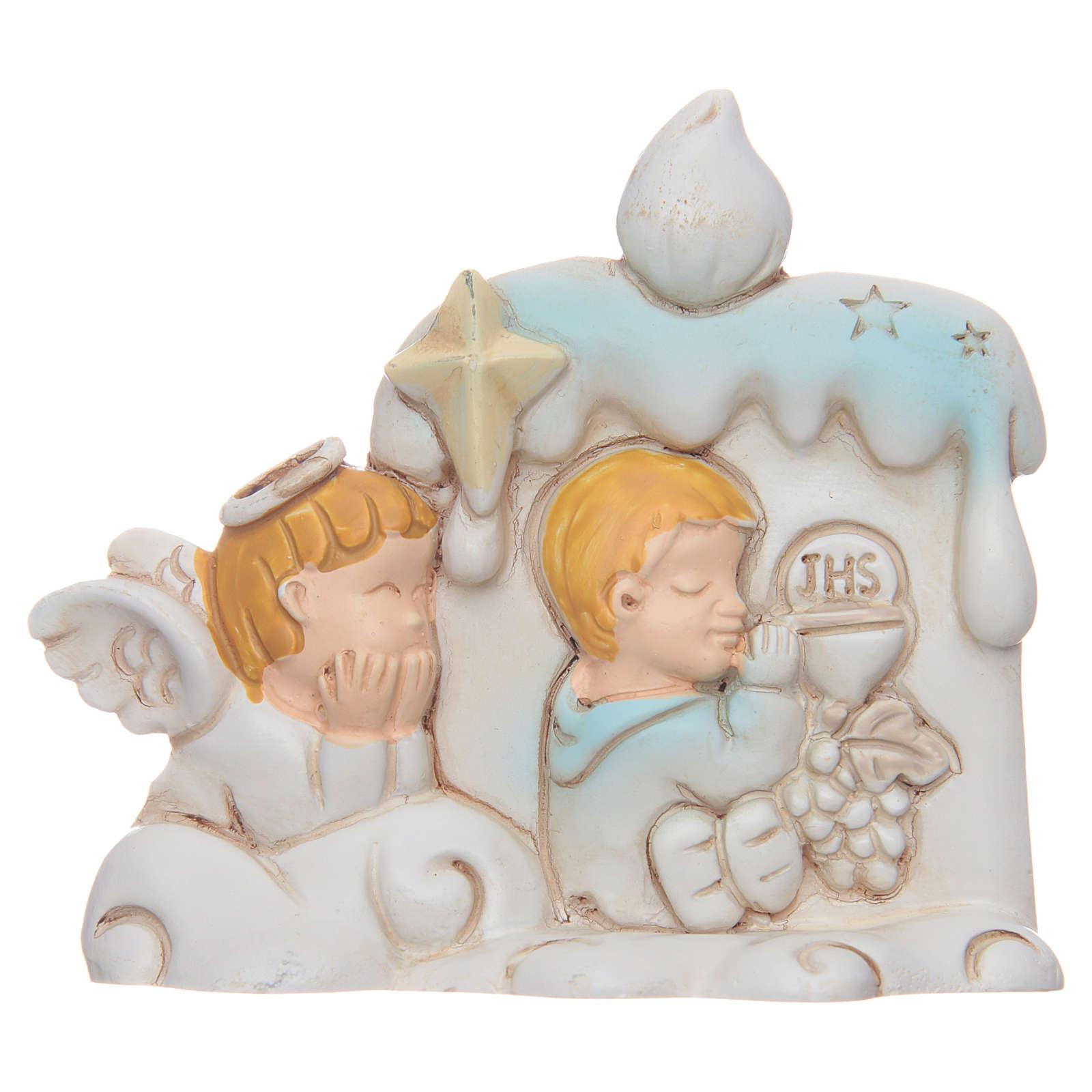 Bomboniera Prima Comunione candela angelo per bambino 3