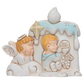Bomboniera Prima Comunione candela angelo per bambino s1