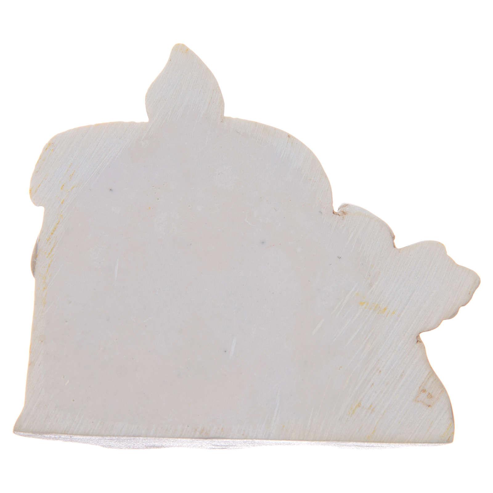 Bomboniera Cresima candela angelo resina 3